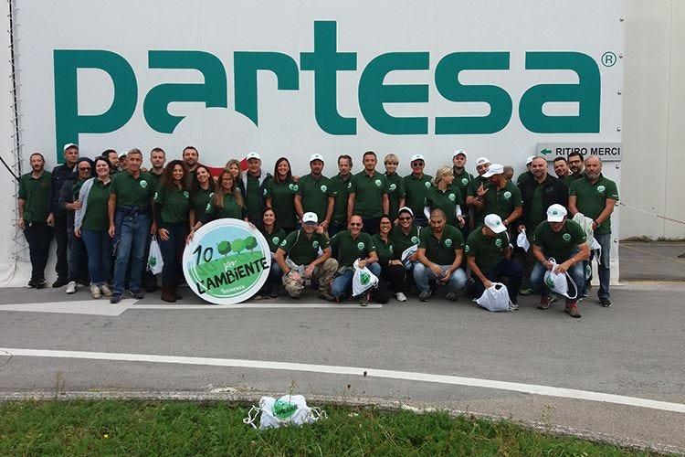 Le 10mila ore di Partesa offerte a sostegno dell'ambiente