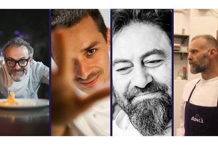 Massimo Bottura, Gianluca Gorini, Franco Cimini, Gabriele Bonci