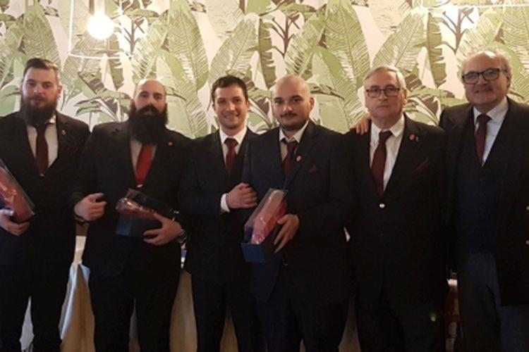 Giorgio Bagini, Christian Olivari, Cosimo Nucera, Mirko Salvagno, Alfredo Raineri e Carmine Lamorte (Abi Professional Cocktail Competition 1° classificato il barman Mirko Salvagno)
