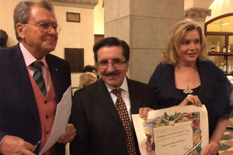 L'Accademia italiana della cucina premia Pierangelo Cornaro per la sua carriera