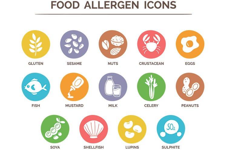 simboli allergeni da