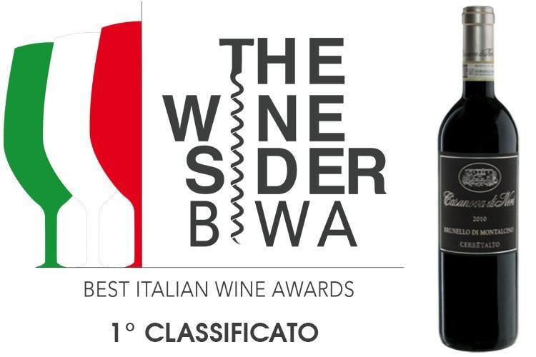 Il Cerretalto 2010 di Casanova di Neri primo ai Best Italian Wine Awards