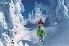 In bicicletta sulla neve dell'Austriatra le proposte dei Best Wellness Hotels