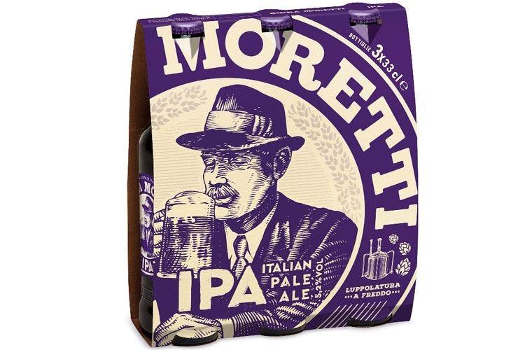 Birra Moretti Ipa, tre luppolature per un'Italian Pale Ale da aperitivo
