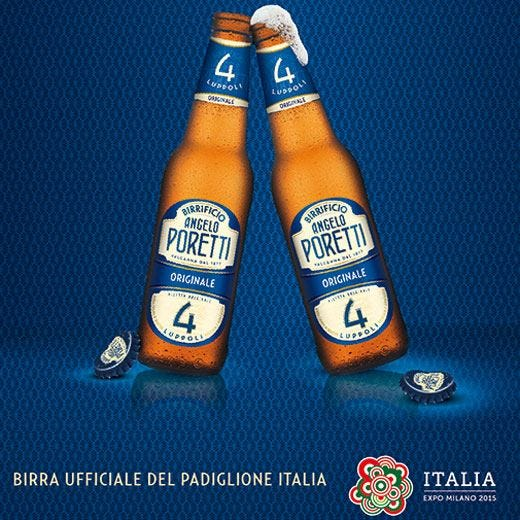 Poretti all'Expo 2015 di Milano Birra ufficiale del Padiglione Italia