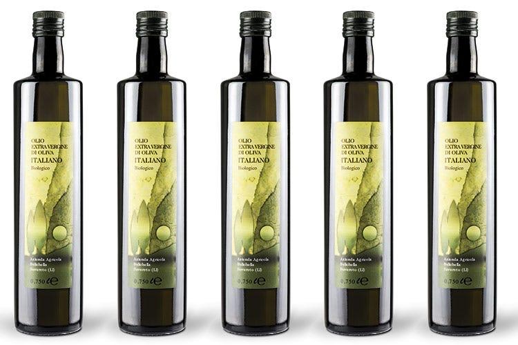 Le bottiglie di olio evo bio Bulichella nel formato da 0,75 - Olio Bulichella, per il Natale in abbinamento a vini e formaggi