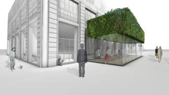 Il Cafè Trussardi di Milano inaugura il primo giardino verticale ...