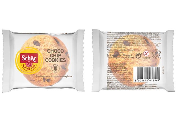 Choco Chip Cookies Schär Il nuovo snack pratico e sicuro