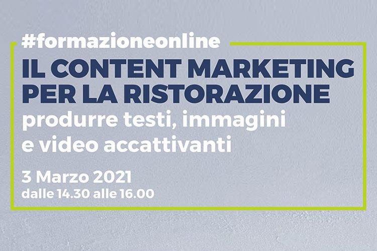 Content marketing per la ristorazione, corso online il 3 marzo