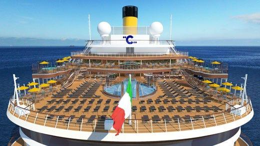 Alta cucina mediterranea in crociera grande attesa per la for Costa mediterranea ponti