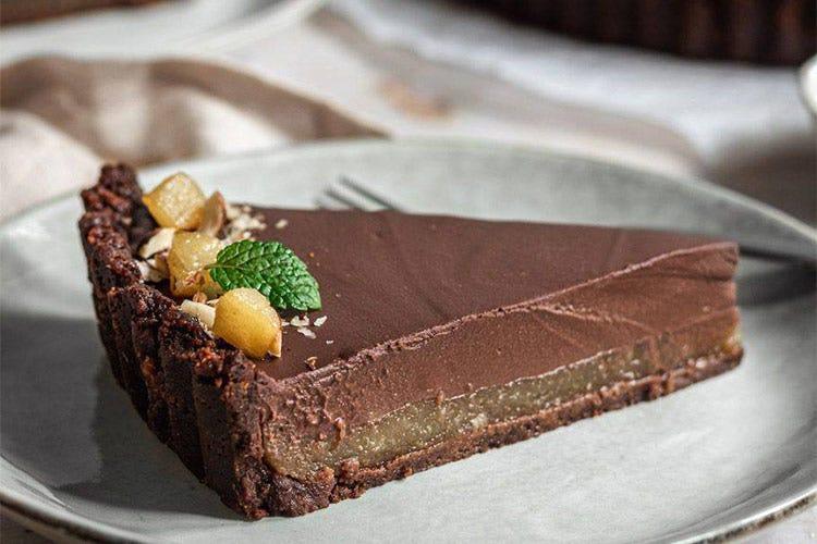 Crostata vegana pere e cioccolato Crostata vegana pere e cioccolato