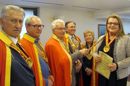 Daniela Santini nuovo membro dell'Ordine dei Cavalieri della Polenta