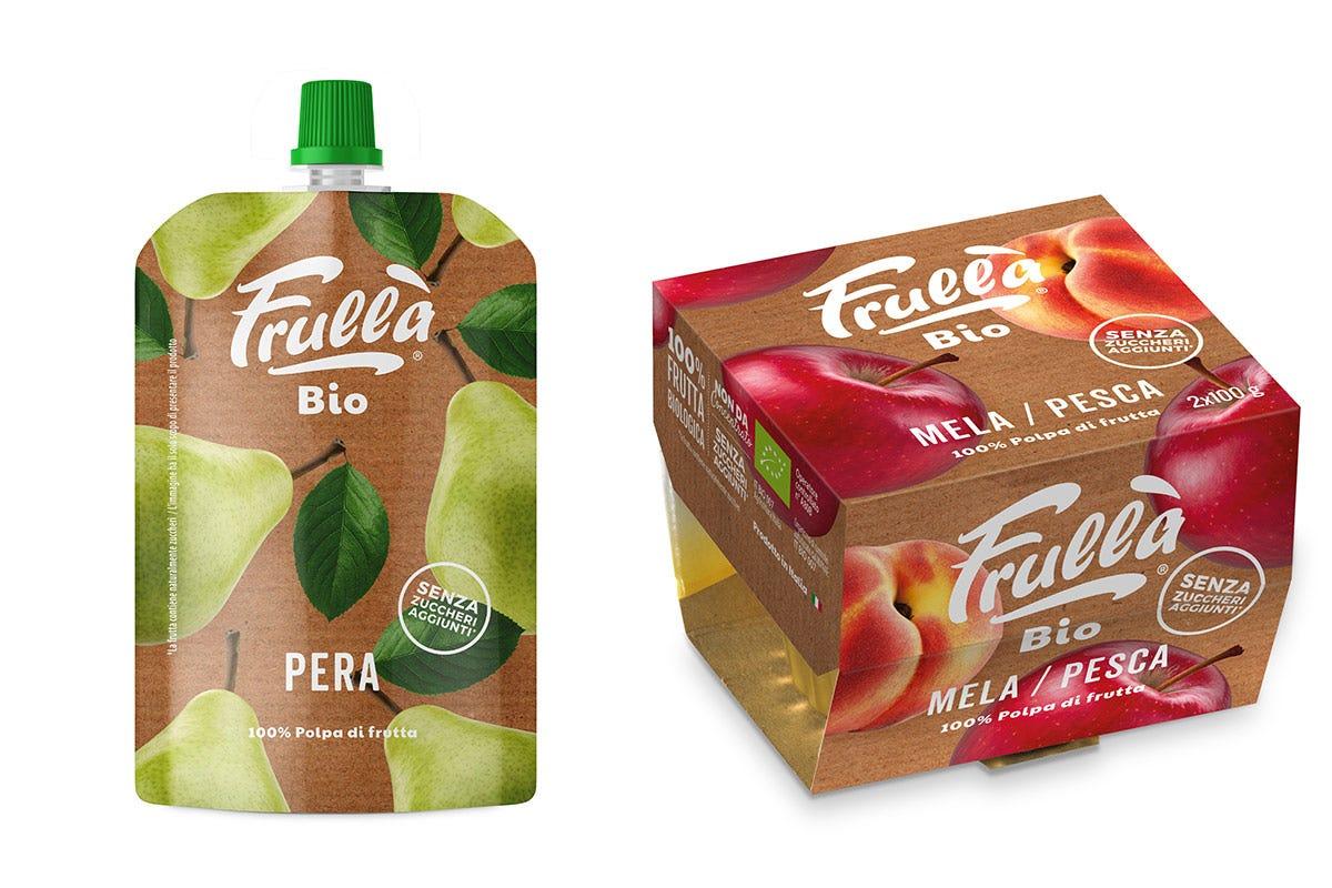 Tra le referenze, anche il gusto Pera in doypac e il gusto Mela e Pesca nella vaschetta