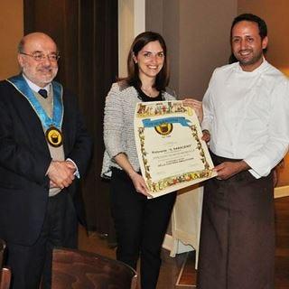 Il Club Buongustai Bergamo premia Il Saraceno di Cavernago