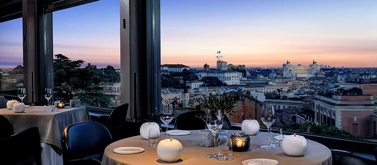 La vista da La Terrazza dell'Eden di Roma - Fabio Ciervo, chef ottimista pensa ai piatti per l'estate dell'Eden