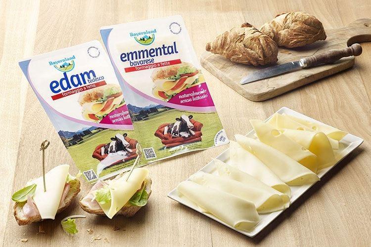 Formaggi senza lattosio Bayernland Edam e Emmental già affettati