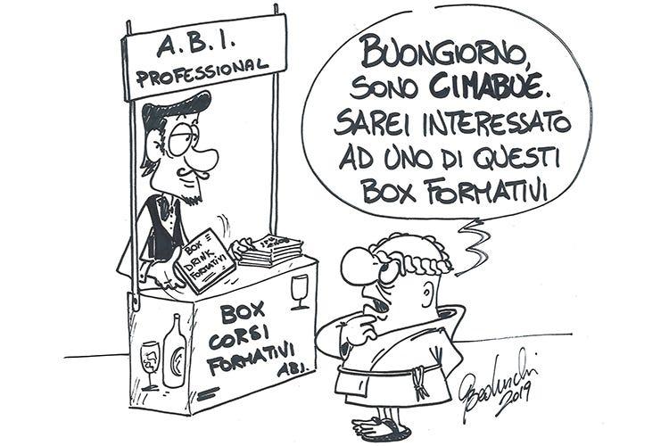 """Da Carosello: """"Cimabue, Cimabue, fai una cosa, ne sbagli due"""" (Formazione per barman sempre più specializzata)"""