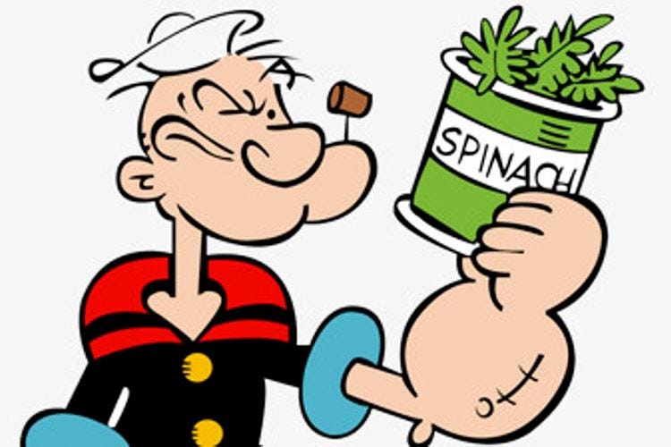 Gli spinaci, fonte di steroidi? L'Antidoping vorrebbe proibirli