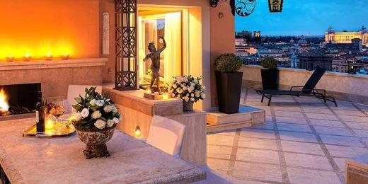 Hotel Hassler, anche dalla spa lo sguardo cade su tutta Roma