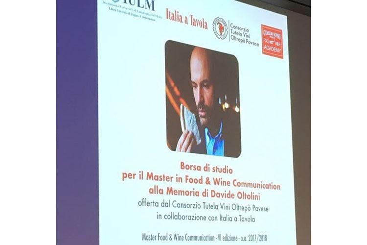 Iulm, per il 6° master in Food & Wine una borsa di studio in memoria di Oltolini