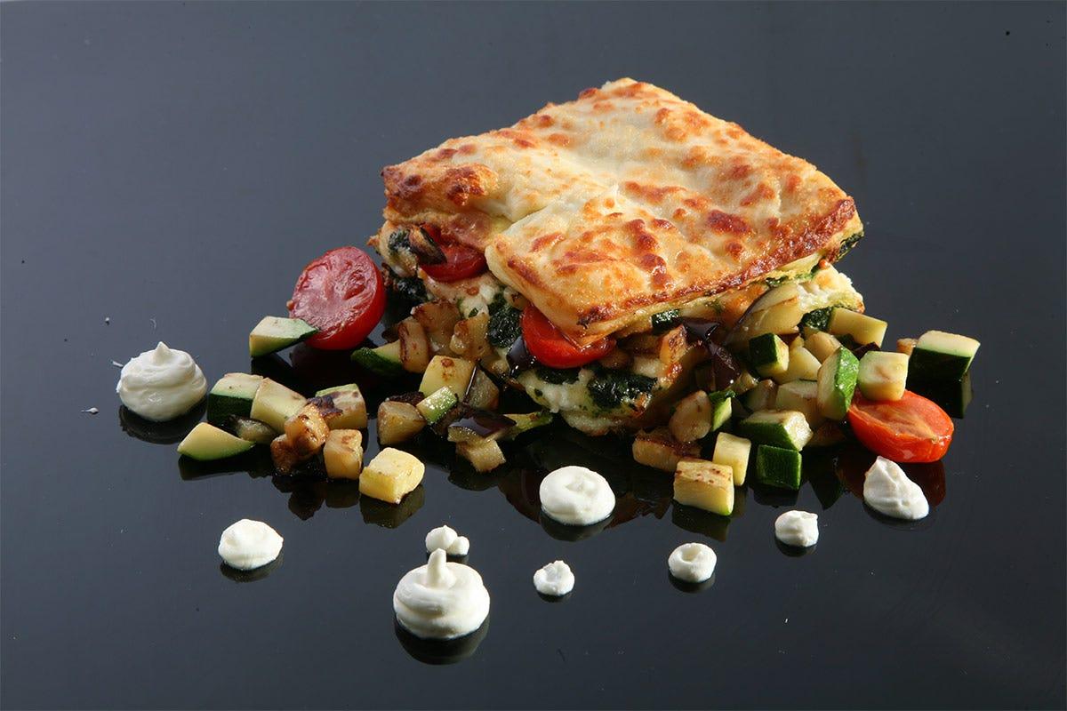 Lasagnette di pasta fresca con melanzane, zucchine, ricotta e pomodori al timo Lasagnette con melanzane, zucchine, ricotta e pomodori