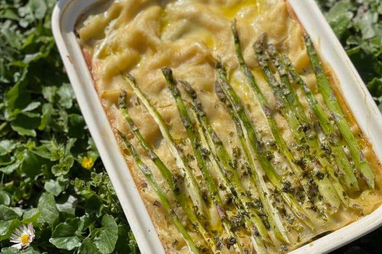 Lasagna di asparagi al profumo affumicato Lasagna di asparagi al profumo affumicato