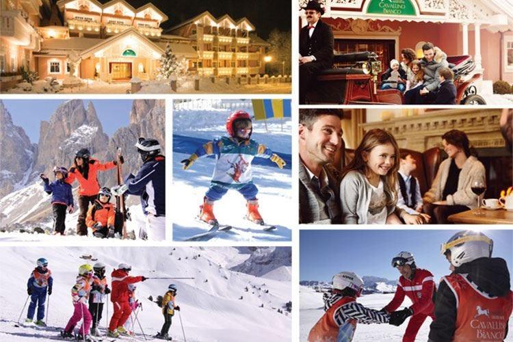 Lezioni di sci per bambini e mercatiniL'inverno al Grand Hotel Cavallino Bianco