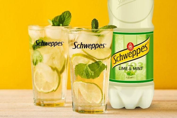 Lime e foglie di menta Novità Schweppes per l'estate