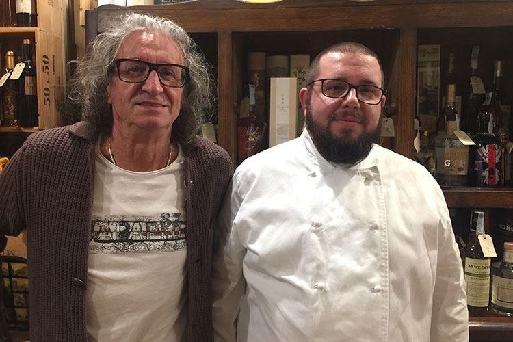 Marco Carminati, cuoco autodidatta all'Antica Osteria Tre Gobbi a Bergamo