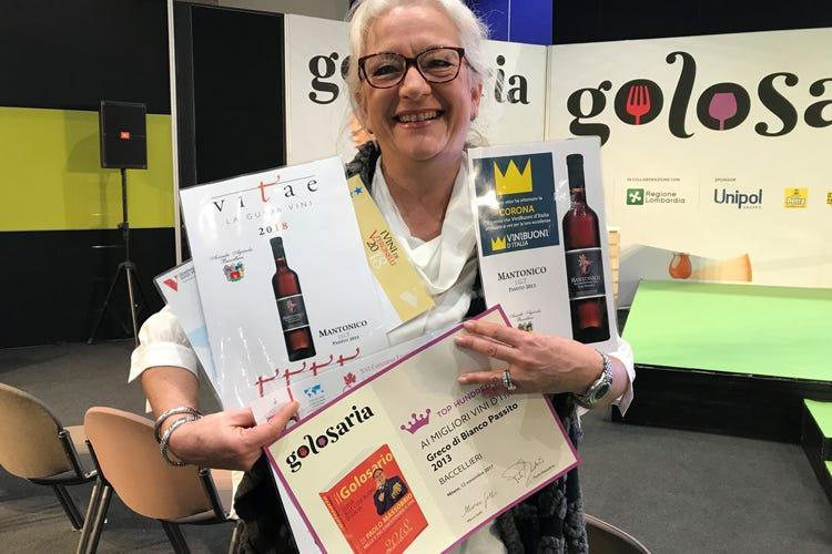 (Nuovo premio a Mariolina Baccellieri Il Greco Passito tra i Top 100 di Golosaria)