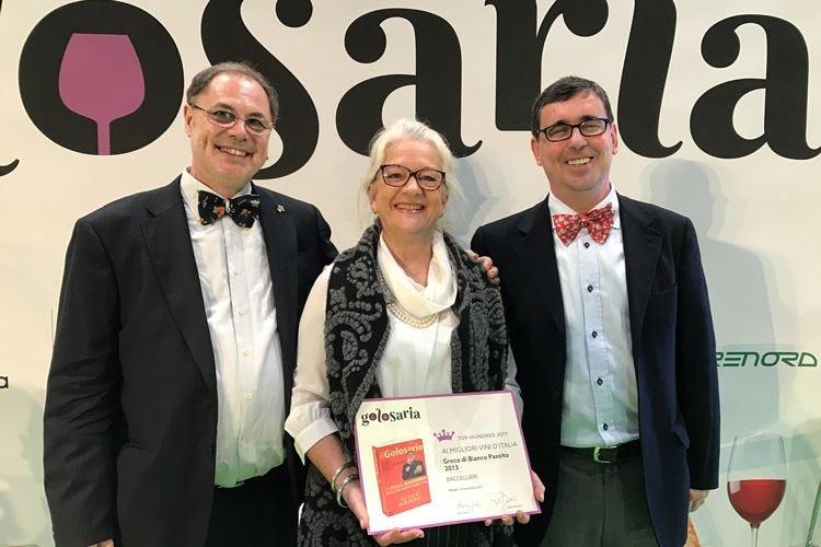 Nuovo premio a Mariolina Baccellieri Il Greco Passito tra i Top 100 di Golosaria