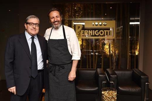 Pernigotti racconta i suoi successi al nuovo ristorante di Filippo La Mantia