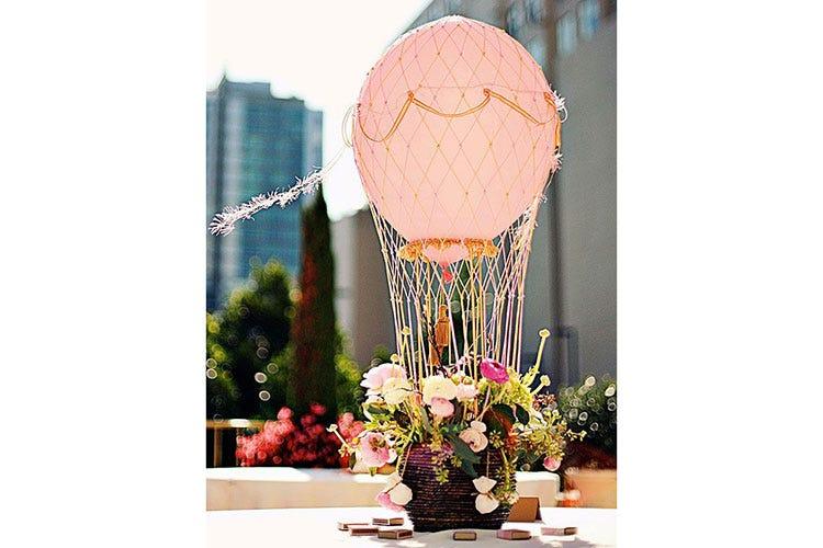 Decorare Un Tavolo Per Battesimo : Mongolfiere centri tavola decorazioni palloncini ad elio per una