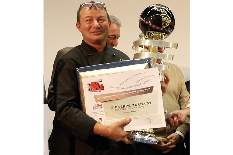 Mostra del gelato artigianale A Giuseppe Zerbato la Coppa d'Oro