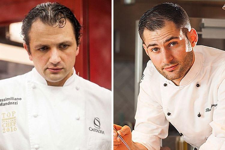 Ospiti in cucina al CastaDiva di Blevio Biuso, il primo a duettare con Mandozzi