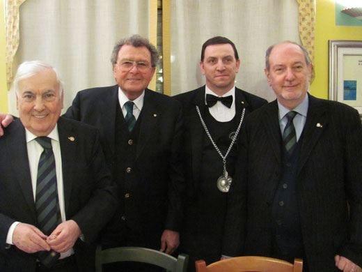 Gli Accademici della cucina a Bergamo per una cena-convegno sul settore olio