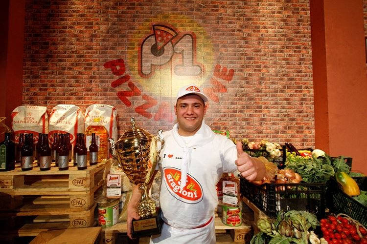 A Luigi Basilico il primo posto nel contest televisivo Pizza1one 2017