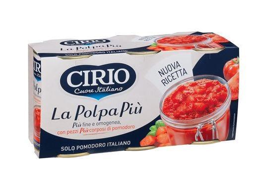 Nuova ricetta per La PolpaPiù Cirio Fine ma con corposi pezzi di pomodoro