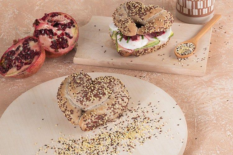 Cuore di melograno con quinoa rossa e miglio Agritech - Prodotti da forno Vandemoortele Nuova linea per bar e Gdo