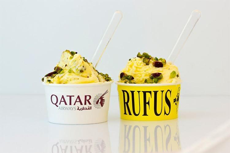 Qatar Airways, un gelato... mediorientale per festeggiare la nuova rotta da Pisa