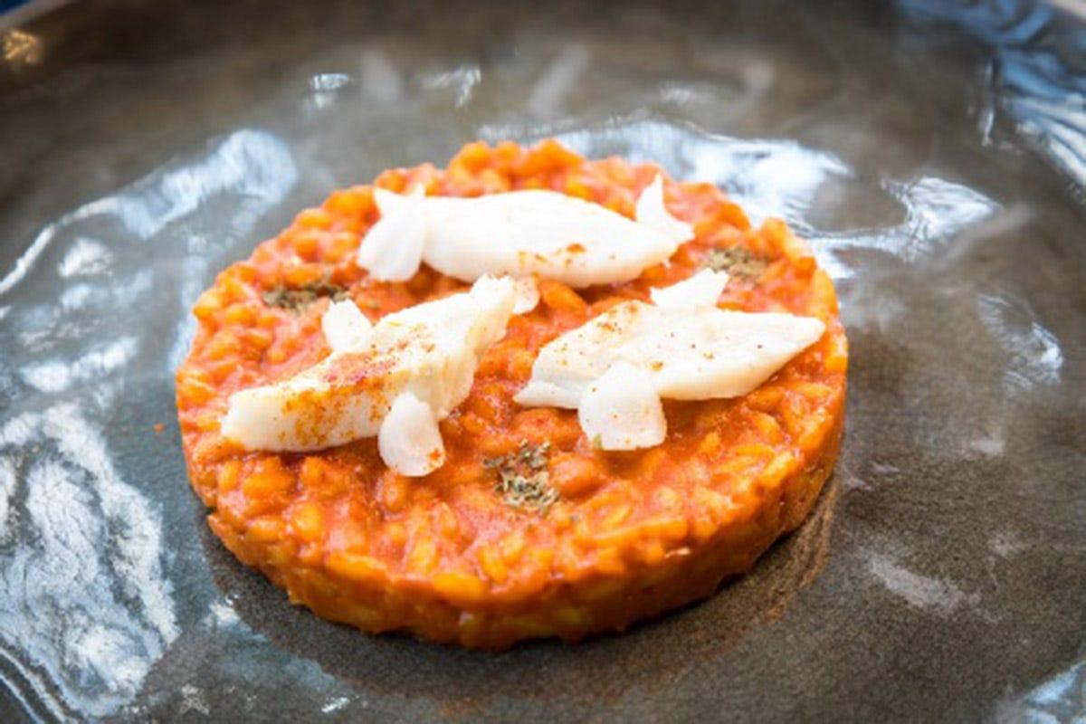 Riso Carnaroli filetto di persico, Piano35 Pesci di lago e di fiume nel menu di 42 ristoranti