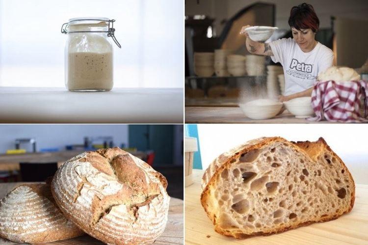 Roberta Pezzella, corso a Molino Quaglia Insegna a fare il pane da lievito madre