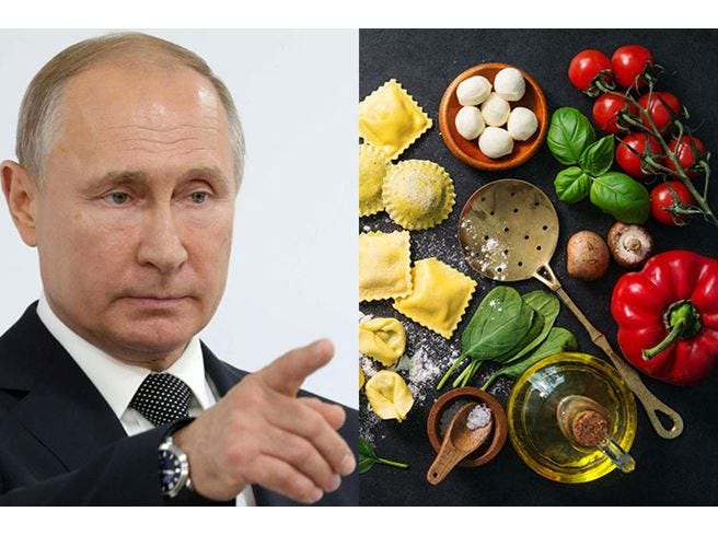 Russia, l'embargo sul cibo costa un miliardo al made in Italy