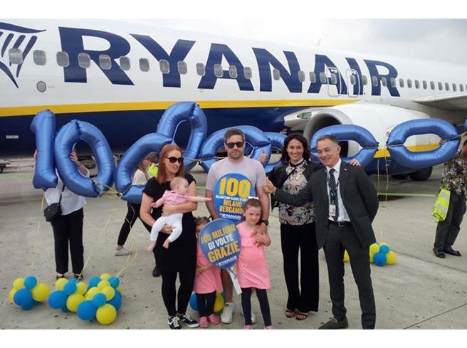 Ryanair a Orio al Serio arriva a 100 milioni di passeggeri