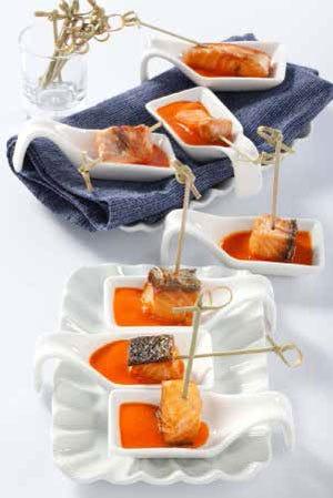 Salmone ai ferri con fonduta di peperone - Italia a Tavola
