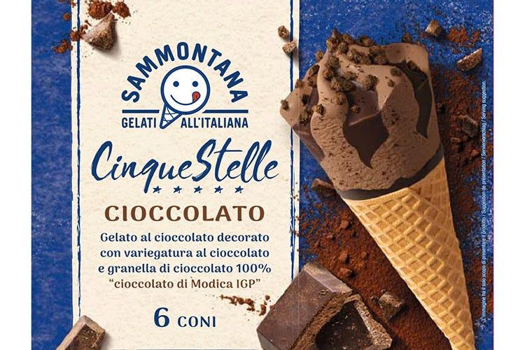 Il nuovo Cornetto Cinque Stelle con Cioccolato di Modica di Sammontana Sammontana: Cornetto Cinque Stelle con Cioccolato di Modica Igp