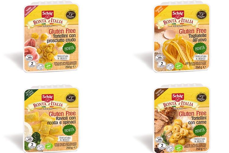 Schär presenta i Freschi gluten free Quattro prodotti della cucina regionale