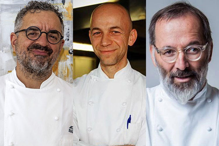 Mauro Uliassi, Riccardo Camanini e Norbert Niederkofler (The World's 50 Best Restaurants 51-120, tre new entry italiane)