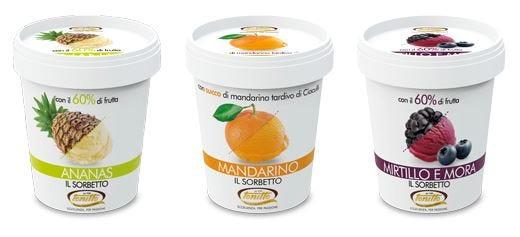 Solo frutta fresca per i gelati Tonitto Prodotti di qualità a livello industriale