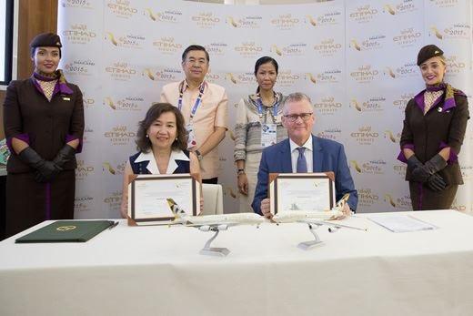 Etihad, accordo da 1,25 milioni di dollari per incrementare il turismo in Thailandia